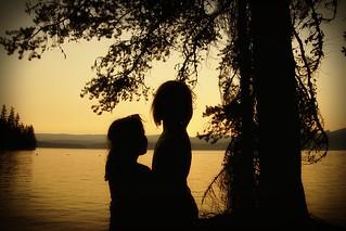 Mady and Evie at Timothy Lake