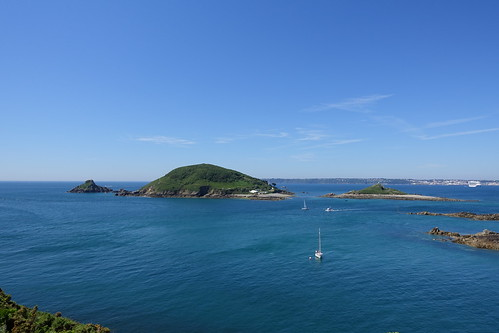 Jethou and Crevichon islands from Herm