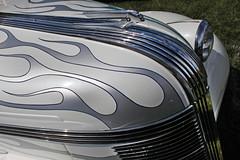Silver Flames (skipmoore) Tags: beniciaclassiccarshow flames car hood hoodornament