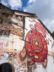 Street Art (mdalmuld) Tags: mural phuket thalandroad oldphukettown phukettown streetart streetphotography graffiti olympus omd em1 m43 micro43 thailand