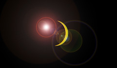 90.9% totality in Salt Lake City Utah (Flickr_Rick) Tags: solareclipse outside summer lensflare sun moon