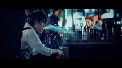 Gion, Kyoto, Japan (emrecift) Tags: candid portrait night smoking low light blue teal tint street photography kyoto japan cinematic 2391 anamorphic cinemorph filter oval bokeh sony a7 alpha legacy lens glass canon new fd 50mm f14 emrecift