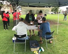 030 Collecting The Answer Sheets (saschmitz_earthlink_net) Tags: 2017 california orienteering laoc losangelesorienteeringclub venturacounty ventura
