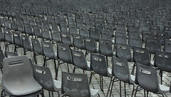 absence of audience (uwe.stanik) Tags: petersplatz piazza san pietro italien rom rome chairs audience pope vatican italy stühle audienz papst