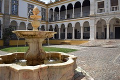 Fountain in the Courtyard (Jocelyn777) Tags: fountains marble courtyard buildings architecture history monuments university historictowns cities towns travel alentejo evora portugal