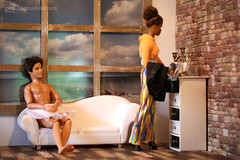 hmm, let's see, what we have ... (photos4dreams) Tags: thedolls06092017p4d aa barbie regularlifeinthedollhouse doll photos4dreams p4d photos4dreamz toy puppe dress mattel barbies girl play fashion fashionistas outfit kleider mode puppenstube tabletopphotography afroamerican darkskin beautiful africanamerican keyla diorama beauties girls women ladies damen weiblich female ebay ryan canoneos5dmark3 scenes 16