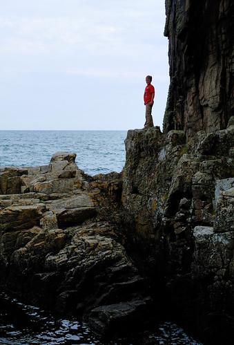 Rock climbing in flip flops