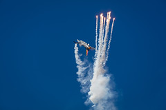 F-16 Flares (Fifescoob) Tags: f16 jet flare fire drama display airshow ayr scotland airforce belgium belgianairforce aerobatic