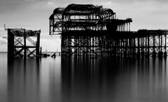Pier with contrast (www.davidrosenphotography.com) Tags: pier seascape sea brighton landscape reflection travel blackwhite