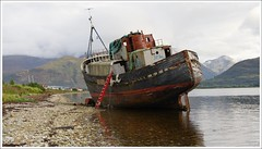 "Corpach Shipwreck (Ben.Allison36) Tags: loch linnhe corpach scotland shipwreck ben nevis lochaber fort william scottish highlands ""the golden harvester """
