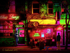 Hope at the Cadillac Lounge (clabudak) Tags: hope cadillac lounge bar nightclub city urban hooker dog man vivid awardtree