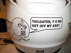 TAILGATOR DECAL (kingkong21) Tags: hjc motorcycle helmet tailgater decal