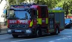 WX17 XXV (Ben - NorthEast Photographer) Tags: lfb london fire brigade applaince pump 2017 wx17xxv uk soho dpl 169 ladder mercedes