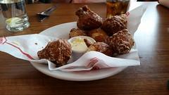 Denny's Strawberry Pancake Puppies (Adventurer Dustin Holmes) Tags: dennys strawberrypancakepuppies appetizer dessert sweets breakfast foods hushpuppies 2017 menuitem menuitems