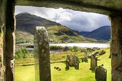 View through a ruined church doorway (OutdoorMonkey) Tags: ruin ruined derelict abandoned church stdubhthach saintduthac morvich highlands scotland clanmacrae lochduich glenshiel