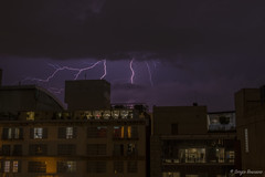 Lightning On Mexico City (serbosca) Tags: fulmini temporale lightning mexico nature storm nightscape nikon d500 tunder city building clouds sky dark colours purple