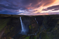 Haifoss, Iceland (sven483) Tags: haifoss waterfall iceland cliff canyon fall water sunset sunrise landscapes landscape sven broeckx