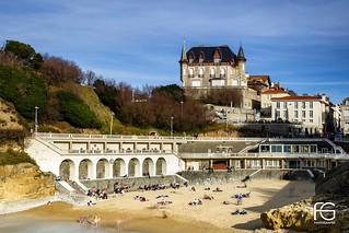 La plage de la côte Basque