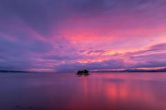 sunset 5612 (junjiaoyama) Tags: japan sunset sky light cloud weather landscape pink purple contrast colour bright lake island water nature fall autumn