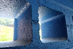 Something Blue (Sdebord16) Tags: blue wall sports baceball ball bace blocks hole holes sun school field sportsfield sport