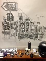 Waterloo, Sydney. (Peter Rush - drawings) Tags: flats drawing sketch peterrush waterloo australia nsw sydney