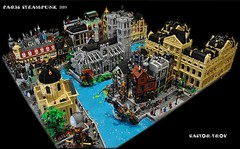PARIS STEAMPUNK 1889 (CASTOR-TROY) Tags: paris 1889 steampunk modular louvre academie notre dame seine