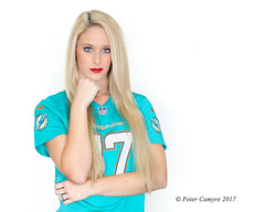 DOLL - 'PHINS (Peter Camyre) Tags: peter camyre portrait photo photographer photography picture brittany miami dolphins cheerleader serious face expression canon football jersey nfl flickr groups pretty beauty beautiful blond blonde hair blue eyes speedlite bounce flash ef70200mmf28lisiiusm canoneos5dmarkiii