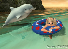 Poppy's Beach  (12) (Poppys_Second_Life) Tags: 2l baha dolphin flipper homesweethome jetty picsbyⓟⓞⓟⓟⓨ pier popi popisadventuresin2l popikone popikonesadventuresin2l poppy sl secondlife virtualphotography swimming swimmingwithdolphin