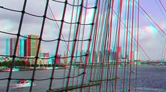 on The BAP Union Peru in Rotterdam 3D (wim hoppenbrouwers) Tags: bap union peru rotterdam 3d anaglyph stereo redcyan serie unión sailing vessel bapunión sailingvessel ship boot boat