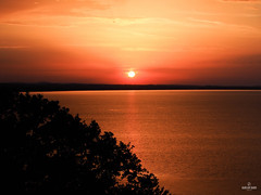Sunset. (carolinezy) Tags: italy olympus pen epl5 45mm f18 lake trasimeno holiday summer sunset sky pretty clouds sun water nature colours