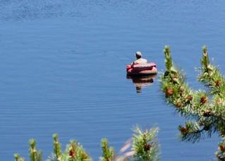 Fishing Nancy Greene Lake in British Columbia