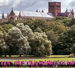 Race for Life, St Albans (Sean Hartwell Photography) Tags: verulamiumpark stalbans hertfordshire england cathedral raceforlife pink charity funrun cancer research ladies women pinkarmy fundraising