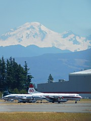 Abbotsford International Airport, British Columbia, Canada (Comiccreator24) Tags: july2017 canada britishcolumbia abbotsford youngphotographer planespotting mtbaker abbotsfordinternationalairport pacificnorthwest classicairliner mountbaker lockheedl188 lockheedl188electra convair convair240 nikonography nikonl840coolpix