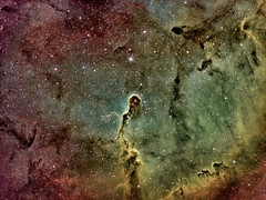 Elephant Trunk Nebula (IC1396) HST colour palette (Carballada) Tags: astrophotography astronomy deep space astro celestron zwo as1600mmc skywatcher ts sky qhy qhy5iii174 narrowband hst astrometrydotnet:id=nova2203188 astrometrydotnet:status=solved