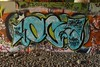 OC (TheGraffitiHunters) Tags: graffiti graff spray paint street art colorful freight train tracks trackside cement wall nj new jersey oc