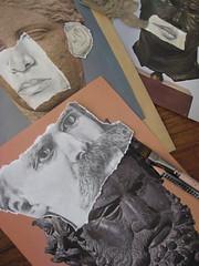Personnalité multiface (nathalielaboisdebesson*) Tags: portrait dessin drawing decoupage
