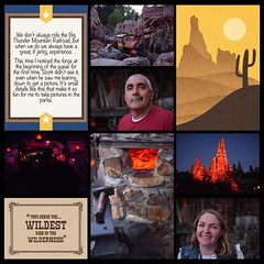 It's the wildest ride in the wilderness! #theockeysgotodisneyland #projectmouse #projectlifeapp #memorykeeping #disneyland #bigthundermountainrailroad (girl231t) Tags: ifttt instagram 2017 vacation scrapbook layout 12x12layout projectlifeapp affinityphotoapp