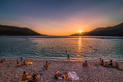 Summer sunset (Vagelis Pikoulas) Tags: sun sunset sunburst beach sea seascape landscape porto germeno greece august 2017 summer canon 6d tokina 1628mm full frame