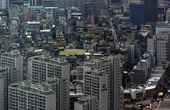 Seoul from room 9499 (Willem van den Hoed) Tags: signiel seoul gangnam 300mm