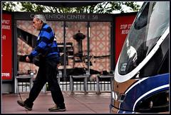 IGottaGo!! (VegasBnR) Tags: nikon sigma vegas vegasbnr busstop lasvegas paradise bus mad people reflections stratosphere city