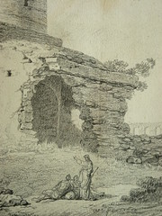 SUVÉE Joseph Benoît - Les Ruines d'un Monument carré, d'une Abside et d'un Acqueduc (drawing, dessin, disegno-Louvre INV32985) - Detail 18 (L'art au présent) Tags: art painter peintre details détail détails detalles drawings dessins dessins18e 18thcenturydrawings dessinsfrançais frenchdrawings peintresfrançais frenchpainters museum paris france ruines ruins stone stones pierre pierres pont bridge acqueduc nature apse fortification édifice building forteresse stronghold fortress croquis étude study sketch sketches antique antiquity ancient antiquités sacred holy blessed figure personnes people femme femmes woman man men