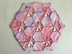 Knot tessellation - Wei Fu variation 1 back (Monika Hankova) Tags: origami tessellation wei fu paper
