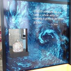 Monterey Bay Aquarium--Plastic in our Oceans (Melinda Young Stuart) Tags: mba plastic exhibit museum monterey aquarium artwork art painting ca pacific problem public science awareness vortex gyre trash