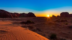 Monument Valley at Sunrise (joseph_donnelly) Tags: monument valley sunrise national park colors sun sand footprints