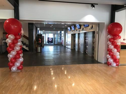 Ballonpilaar Breed Rond Hoge School Rotterdam