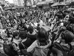 Protest at BRAC University for resign the register (سلطان محمود) Tags: teacher student bangladesh dhaka brac university xiaomi action camera ground group yi