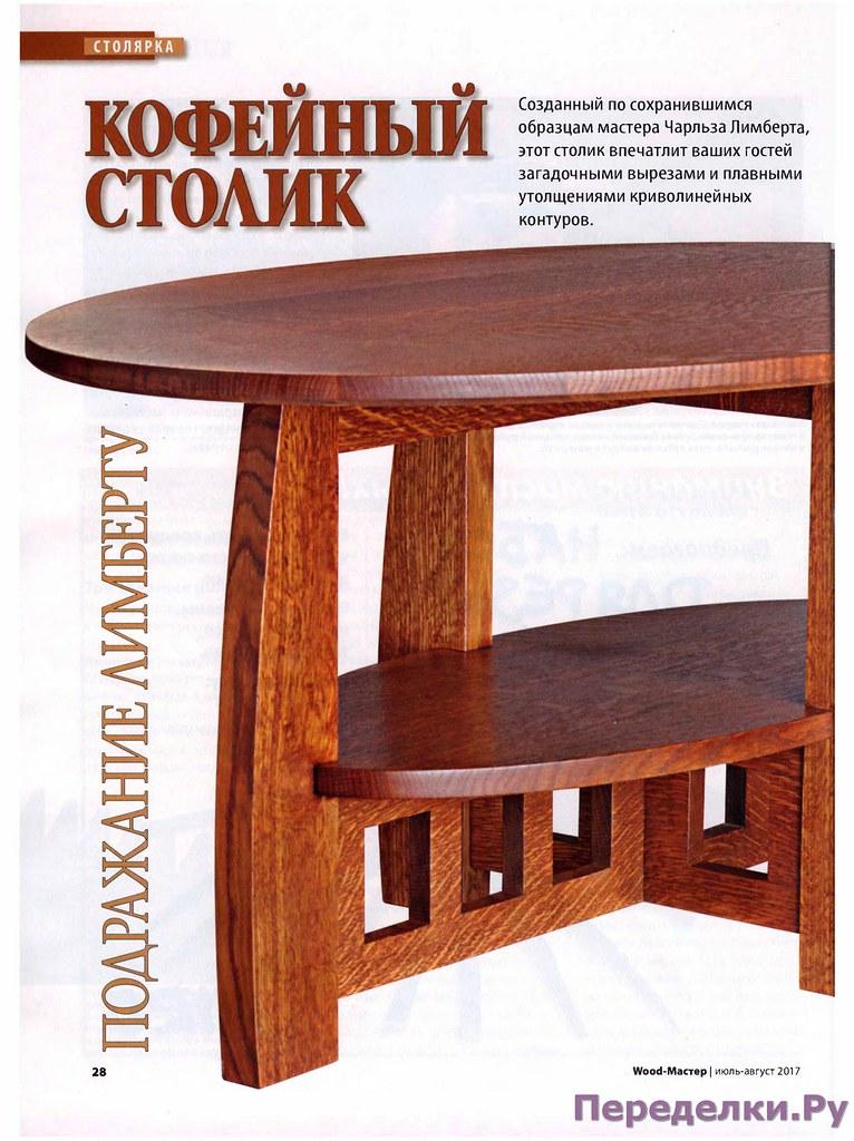 Кофейный столик по образцам мастера Чарльза Лимберта