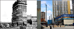 Elephant And Castle`1960-2017 (roll the dice) Tags: london londonist se1 southwark shopping fashion shops mad sad old surreal changes collection local history retro bygone nostalgia comparison streetfurniture architecture oldandnew pastandpresent hereandnow urban england flats regeneration music traffic vanished demolished students faraday gentrification lost walworth heygate tram dunnco haig watneys sixties thameslink newkentroad cctv vpwine
