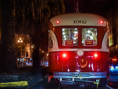 test car (pbo31) Tags: sanfrancisco california nikon d810 night dark black color city urban september 2017 summer boury pbo31 muni streetcar red marketstreet test car castrodistrict traffic roadway 1062