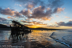 lt-080-SS1601230_62866 (LDELD) Tags: peter iredale fort stevens graveyard pacific sunrise ocean beach shipwreck clouds sand waves reflections morning dawn clatsop oregon sea water sky